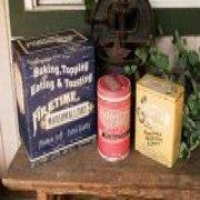 3 piece old advertising food tin set