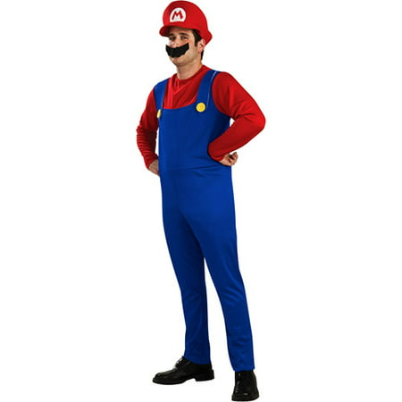 Mario Bros Mario Adult Halloween Costume - Halloween Costumes Mario