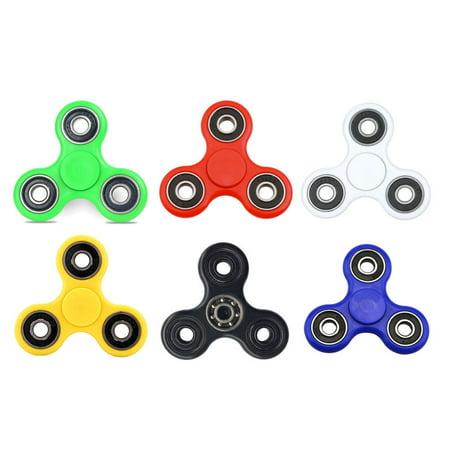Hand Fidget Spinner Ultra Durable Tri Spinner Fidget Toy Hand Fidget Spinner Stress Reducer Good For Adhd Edc   White
