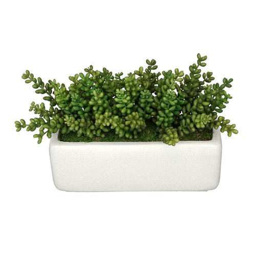 House of Silk Flowers Inc. Artificial Sedum Plant in Planter