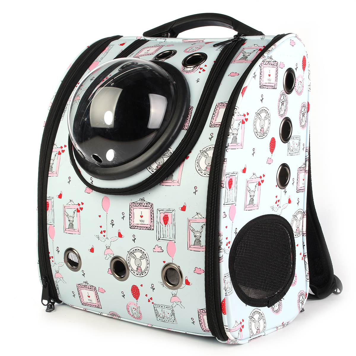 Space Astronaut Capsule Pet Cat Dog Puppy Carrier Travel Bag Space Capsule Backpack Breathable Cute Rabbit