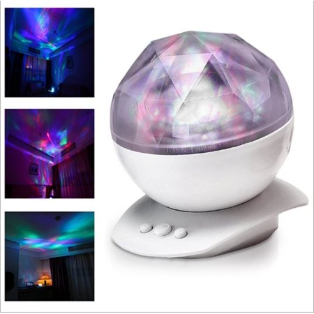 Aurora Projection Led Night Light Lamp With 8 Lighting Mode   Speaker  Relaxing Light Show For Baby Kids And Adults  Mood Light For Baby Nursery Bedroom Living Room  White