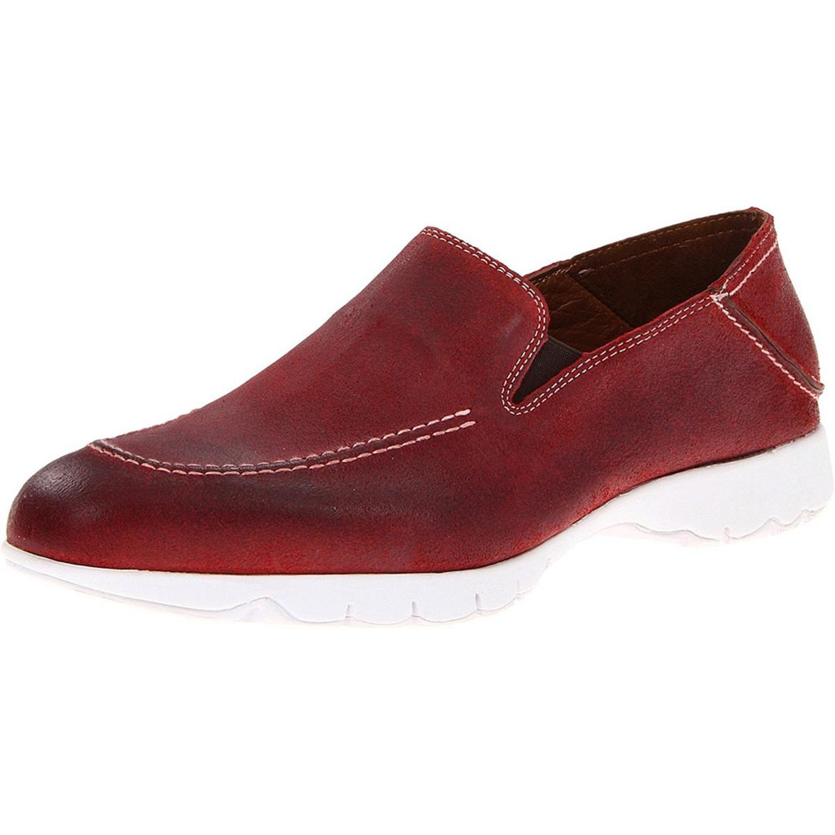 Hush Puppies Five-Base Mens Red Loafers by Hush Puppies