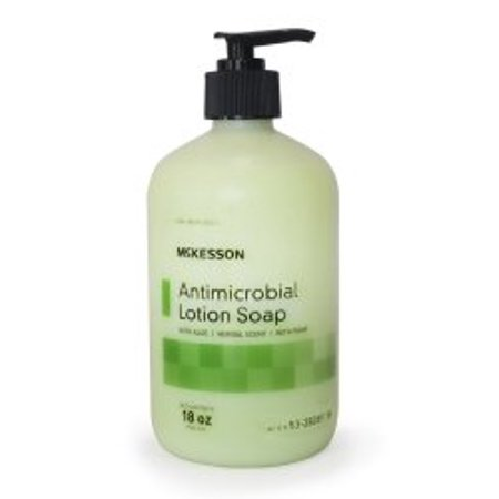 Antimicrobial Soap McKesson Lotion 18 oz. Pump Bottle Herbal Scent ''1 Count'' 6 Pack ()