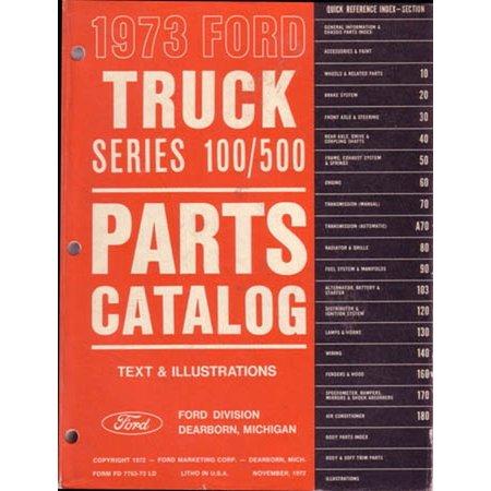 - Bishko OEM Repair Maintenance Parts Book Loose Leaf for Ford Truck F150-500 1973