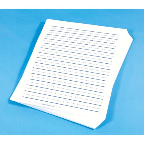 Wide Lined Raised Paper