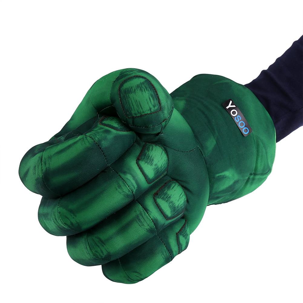 Hulk Smash Hands Fists Big Soft Plush Gloves Pair Hulk Grip Fists