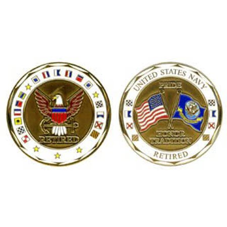 U.S. Navy Retired 1-1/8 Inch Challenge Coin