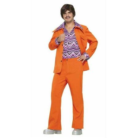 Leisure Suit 70S Orange - 70s Suit