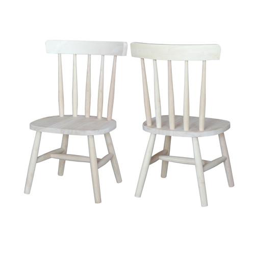 International Concepts Juvenile Tot's Kids Chair (Set of 2)