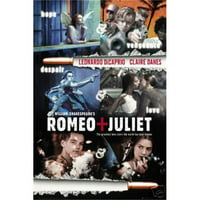 "romeo + juliet di caprio movie poster, 24"" x 36"""