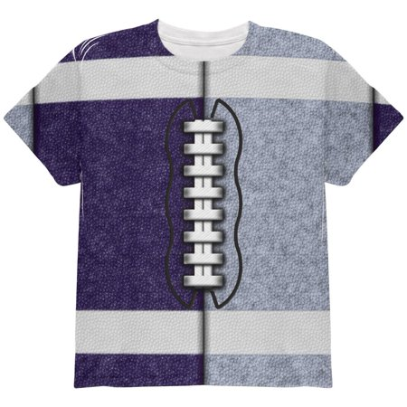 Fantasy Football Team Navy and Light Blue All Over Youth T Shirt