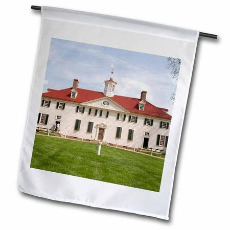 Vernon Colonial Garden (3dRose USA, Washington DC, George Washingtons Mt Vernon - US09 LFO0179 - Lee Foster - Garden Flag, 12 by 18-inch)
