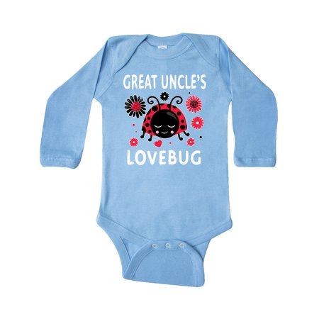 Valentine's Day Great Uncle's Lovebug Long Sleeve Creeper