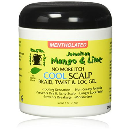- Jamaican Mango & Lime No More Itch Cool Scalp Braid Twist & Lock Gel, 6 Ounce
