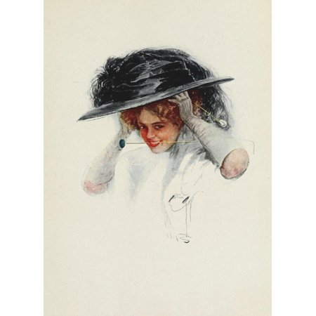 American Girls in Miniature 1912 Hat-pin Canvas Art - Harrison Fisher (24 x 36)