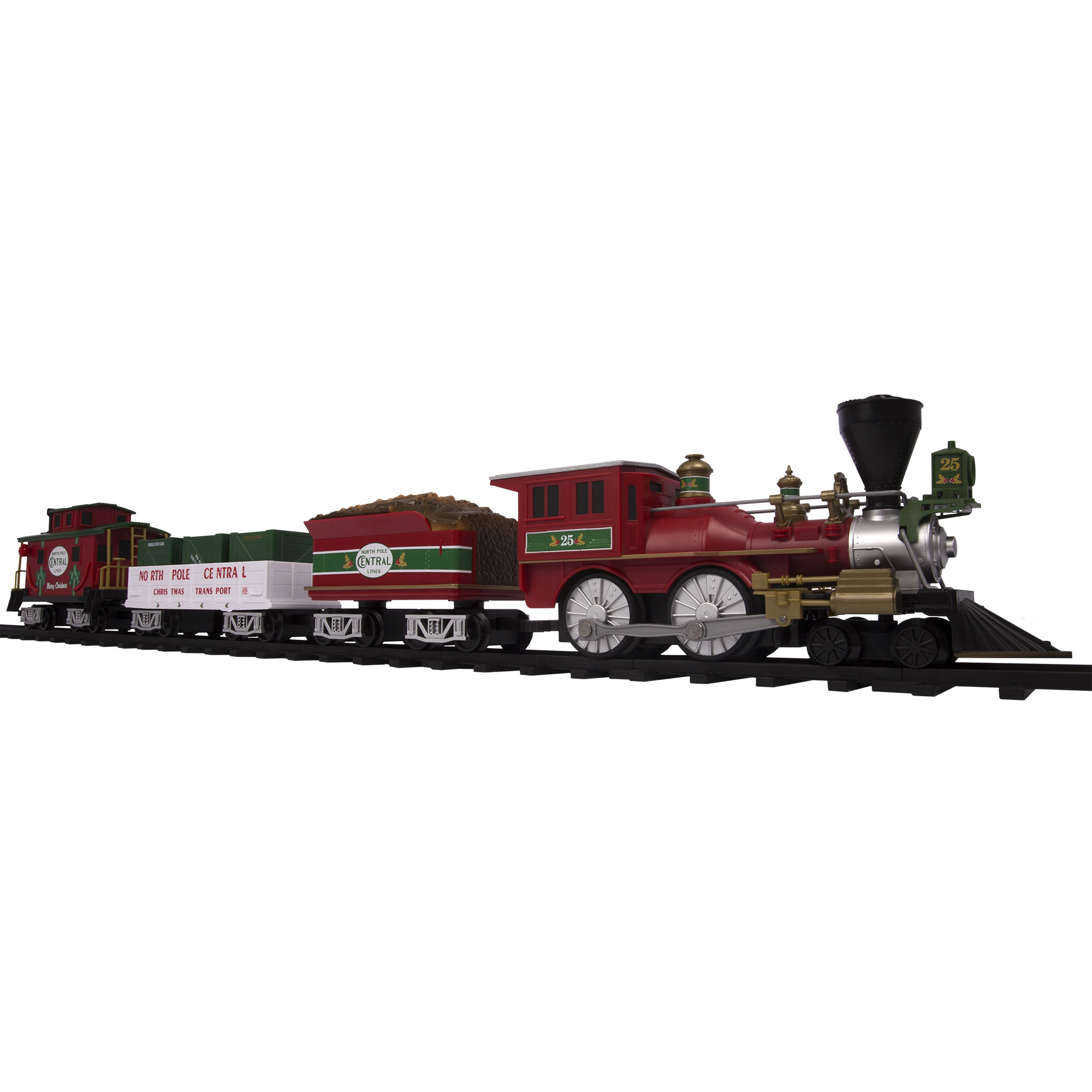 lionel trains north pole central ready to play battery power christmas train set walmartcom