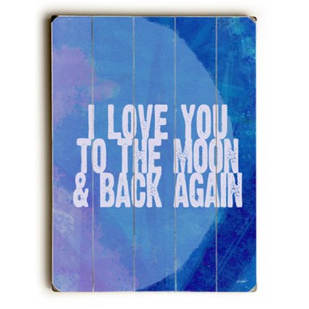 One Bella Casa 0402-4485-25 9 x 12 in. To The Moon & Back Solid Wood Wall Decor by Lisa Weedn - image 1 de 1