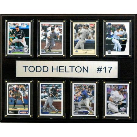 C&I Collectables MLB 12x15 Todd Helton Colorado Rockies 8-Card Plaque ()