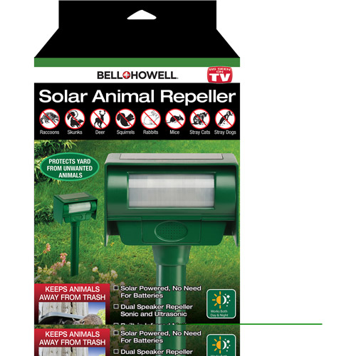 as seen on tv bell   howell solar animal repeller