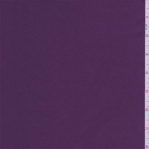 Aubergine Purple Stretch Satin, Fabric By the Yard