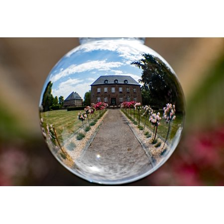 Canvas Print Town Hall Glass Ball Photo Mirroring Glass Ball Stretched Canvas 10 x 14 (Town Hall Halloween Ball)