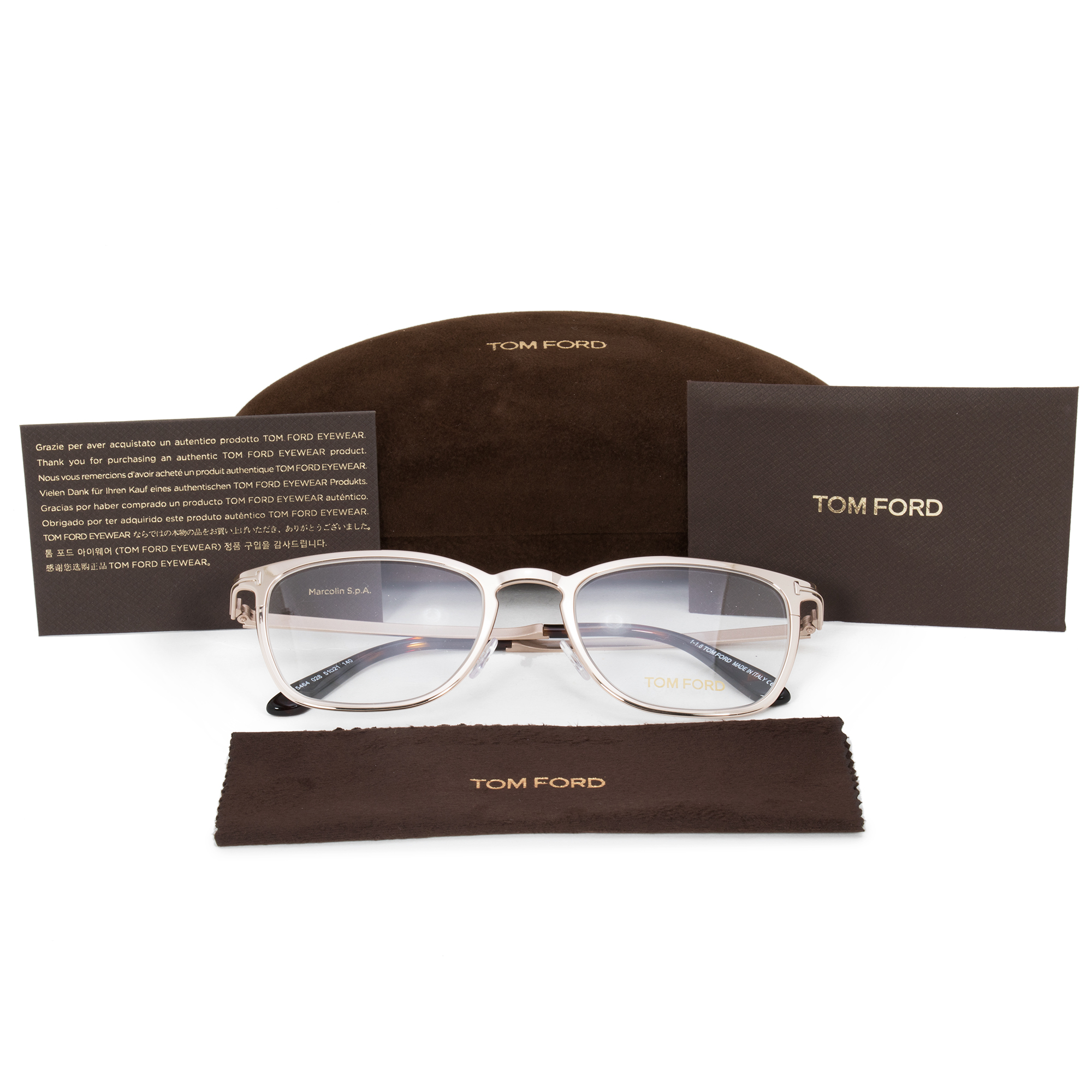 a023869dab Tom Ford Tom Ford Square Eyeglass Frames FT5464 028 51 - Walmart.com