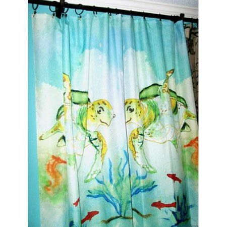 Betsy Drake Interiors Sea Turtle Shower Curtain