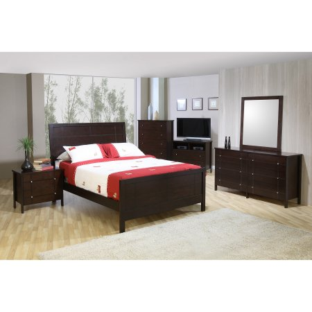 City Lights  King Bed With Headboard and Footboard
