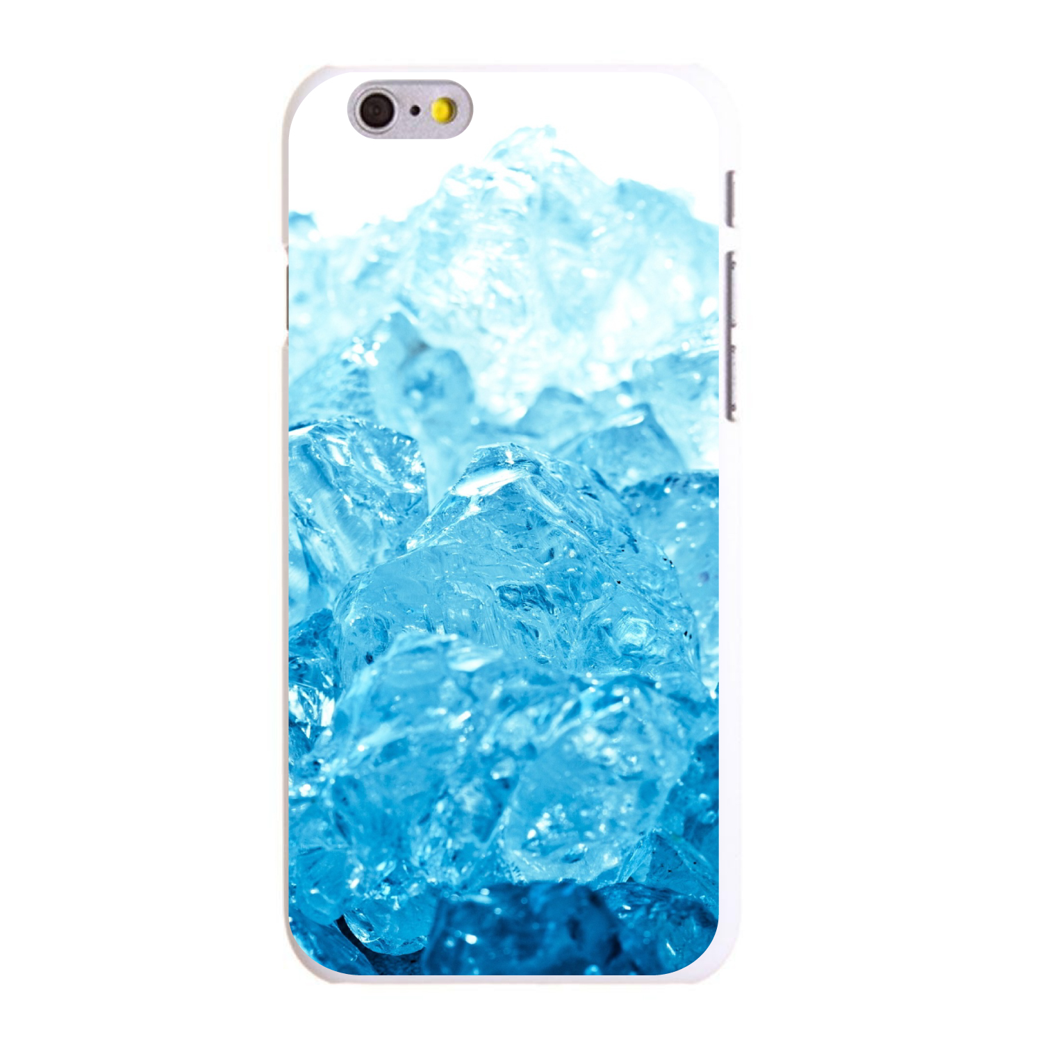 "CUSTOM White Hard Plastic Snap-On Case for Apple iPhone 6 / 6S (4.7"" Screen) - Clear Blue Ice"