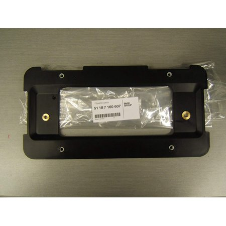 Bmw Plate - (51 18 7 160 607) License Plate Holder, REAR license plate frame/holder. A genuine BMW product. By BMW,USA