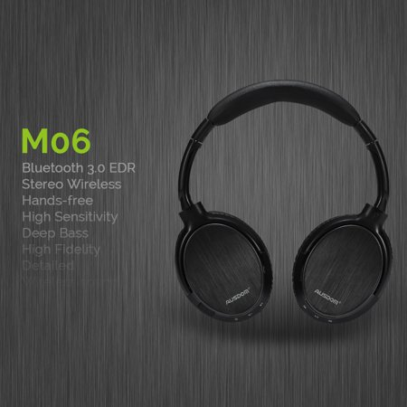 Stereo Volume Pedal - Ausdom M06 Wireless Bluetooth EDR Over Ear Headphones Lightweight Stereo Deep Bass with Built-in Mic And Volume Control for Music Streaming Hands-free Calling Headset