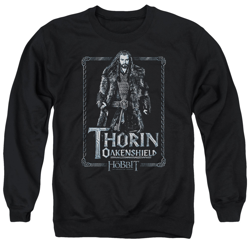 The Hobbit Thorin Stare Mens Crewneck Sweatshirt