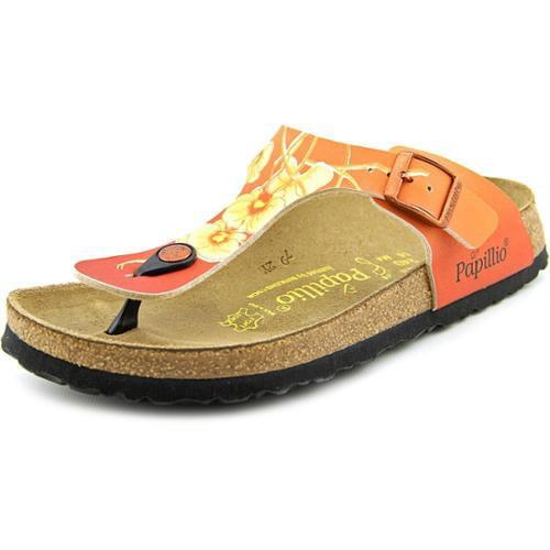 Papillio Gizeh Birkoflor Women US 7 Orange Thong Sandal EU 38