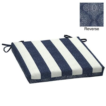 Better Homes & Gardens Reversible Blue Pointelized Ogee Stripe 20
