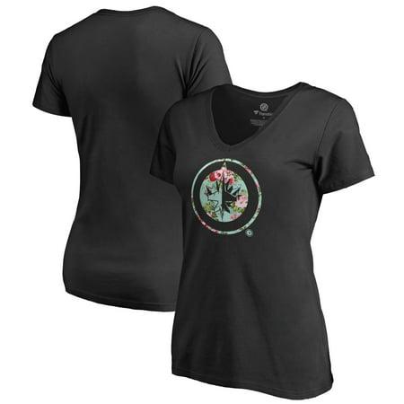 Winnipeg Jets Memorabilia (Winnipeg Jets Fanatics Branded Women's Lovely V-Neck T-Shirt - Black)