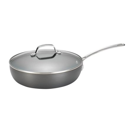 Circulon Genesis Hard-Anodized Nonstick 12-Inch Covered Deep Skillet Circulon Oven Safe Skillet