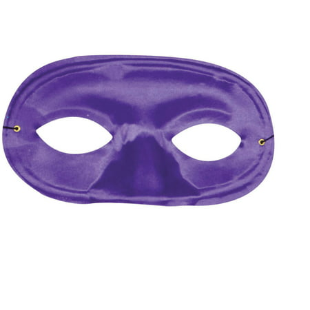 Purple Half Domino Mask Adult Halloween Accessory - Purple Domino