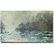 "Trademark Fine Art ""The Break up at Vetheuil 1883"" Canvas Wall Art by Claude Monet"