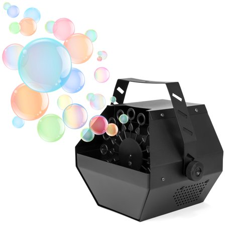 Best Choice Products Portable Indoor Outdoor Professional Metal Automatic Bubble Machine Blower w/ High Output - Black - Halloween Smoke Machine