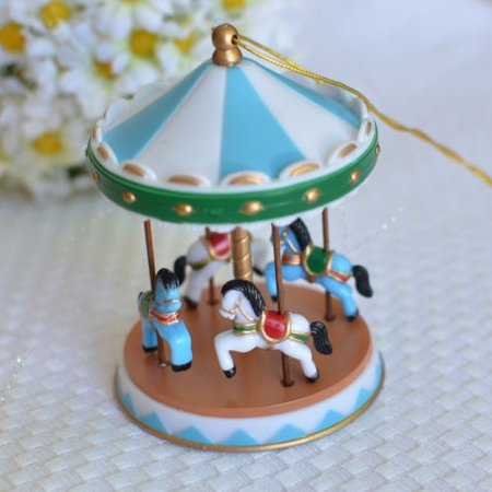 Blue Circus Carousel Cake Topper for Baby Showers, Birthdays Vintage - Halloween Baby Shower Cakes