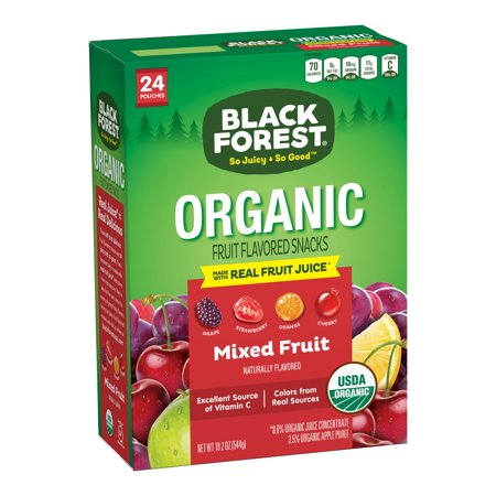 Black Forest Organic Fruity Bites Fruit Snacks, Mixed Fruit, 0.8 Ounce Bag, Pack of 24 ()