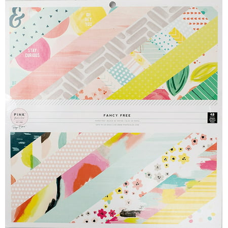 American Crafts Pink Paislee Fancy Free Collection 12X12 Paper Pad](Fancy Paper)