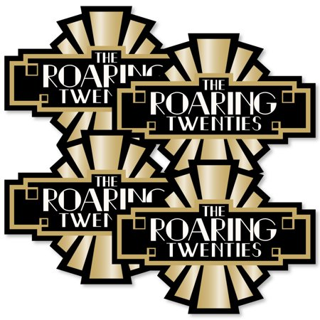 Roaring 20's - Art Deco DIY 1920s Jazz Party Essentials - Set of 20 - Roaring 20s Party Decorations
