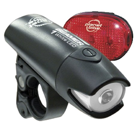 Planet Bike Beamer 1 and Blinky 3 LED Bicycle Light Set Planet Bike Blinky Super Flash