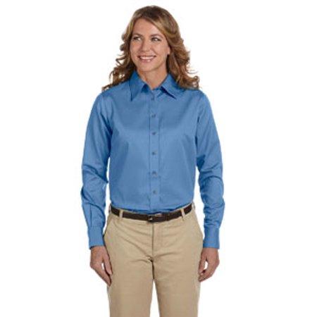 e543deb12ea0d Harriton - Harriton Ladies  Easy Blend™ Long-Sleeve Twill nbsp Shirt with  Stain-Release - Walmart.com