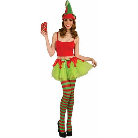 Green Red Christmas Elf Ballet Costume Tutu Skirt