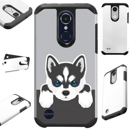 Huskey Dog (For LG K30 X410 / LG K10 (2018) / LG K10 Plus / LG K10 Alpha / LG Premier Pro L413DL / LG X4 Case Hybrid TPU Fusion Phone Cover)