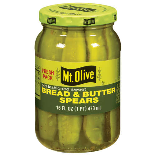 Mt. Olive Bread And Butter Spears Old Fashioned Sweet Pickles, 16 fl oz
