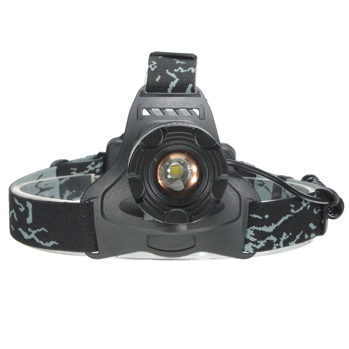 Elfeland 3500 Lumen T6 LED Zoomble tactical headlamp Rechargeable Headlight Headlamp Flashlight Torch Waterproof 3 Modes For Hiking Camping Riding Fishing